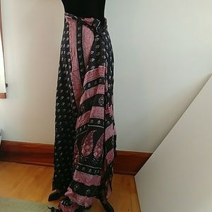 Dresses & Skirts - Silk gypsy boho wrap skirt